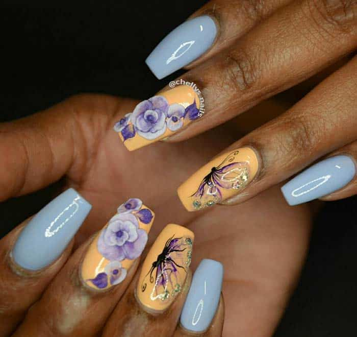 different styles of acrylic nails photo - 1