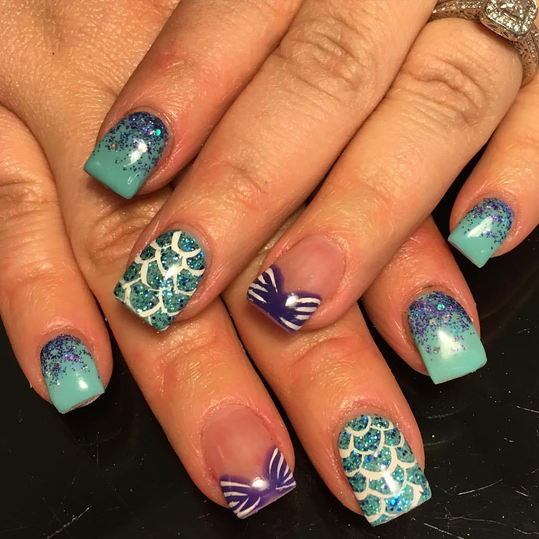 disney gel nails photo - 2