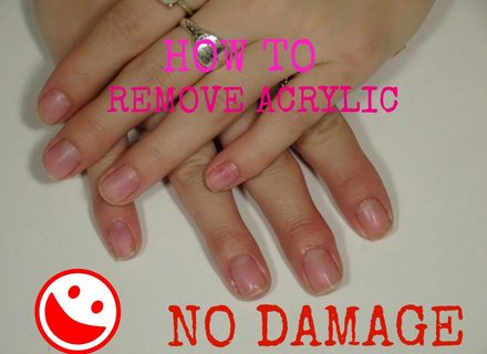 easiest way to take off acrylic nails photo - 1