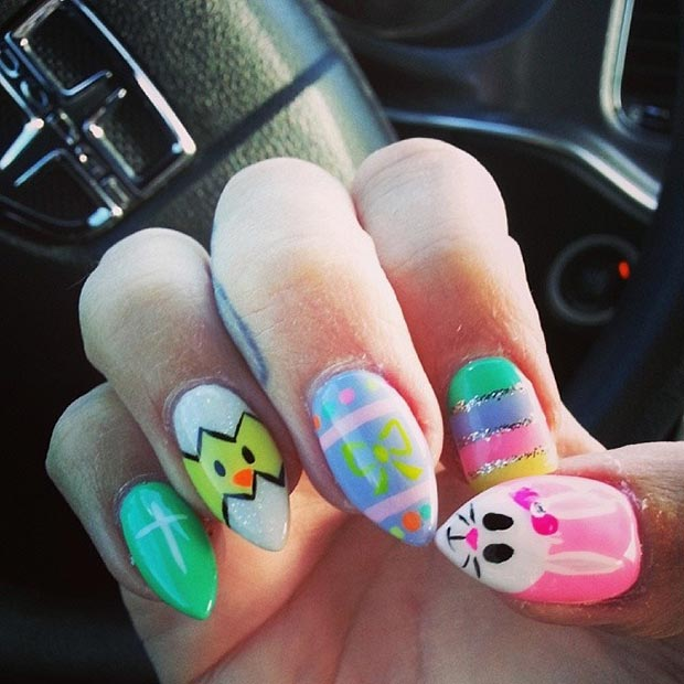 easter stiletto nails photo - 2