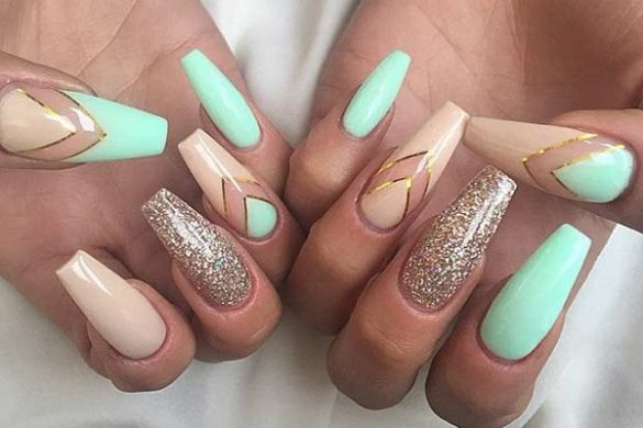 easy ombre french acrylic nails photo - 2
