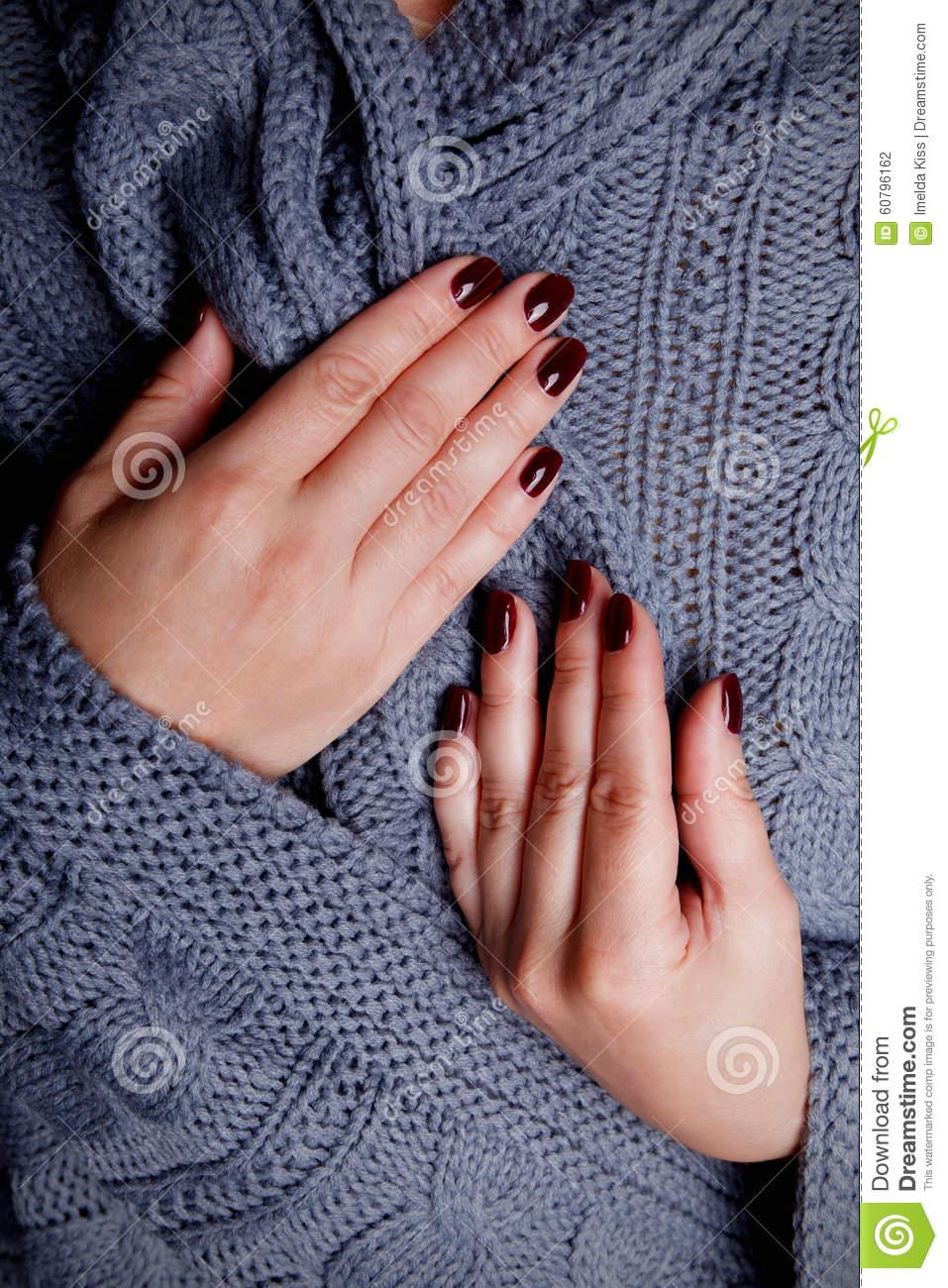 elegant winter gel nails photo - 1