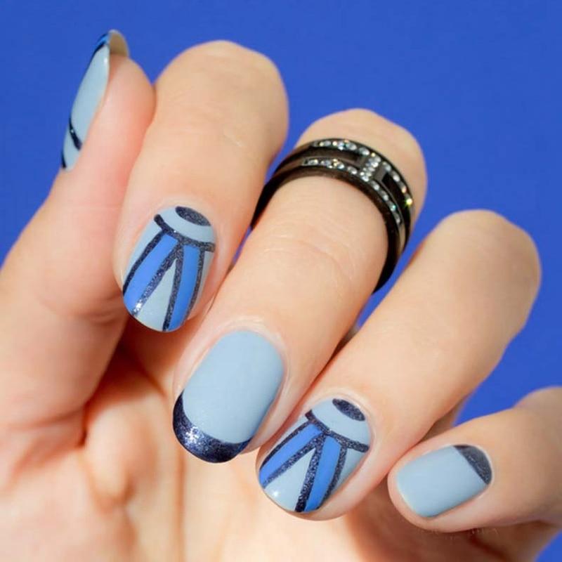 elegant winter gel nails photo - 2