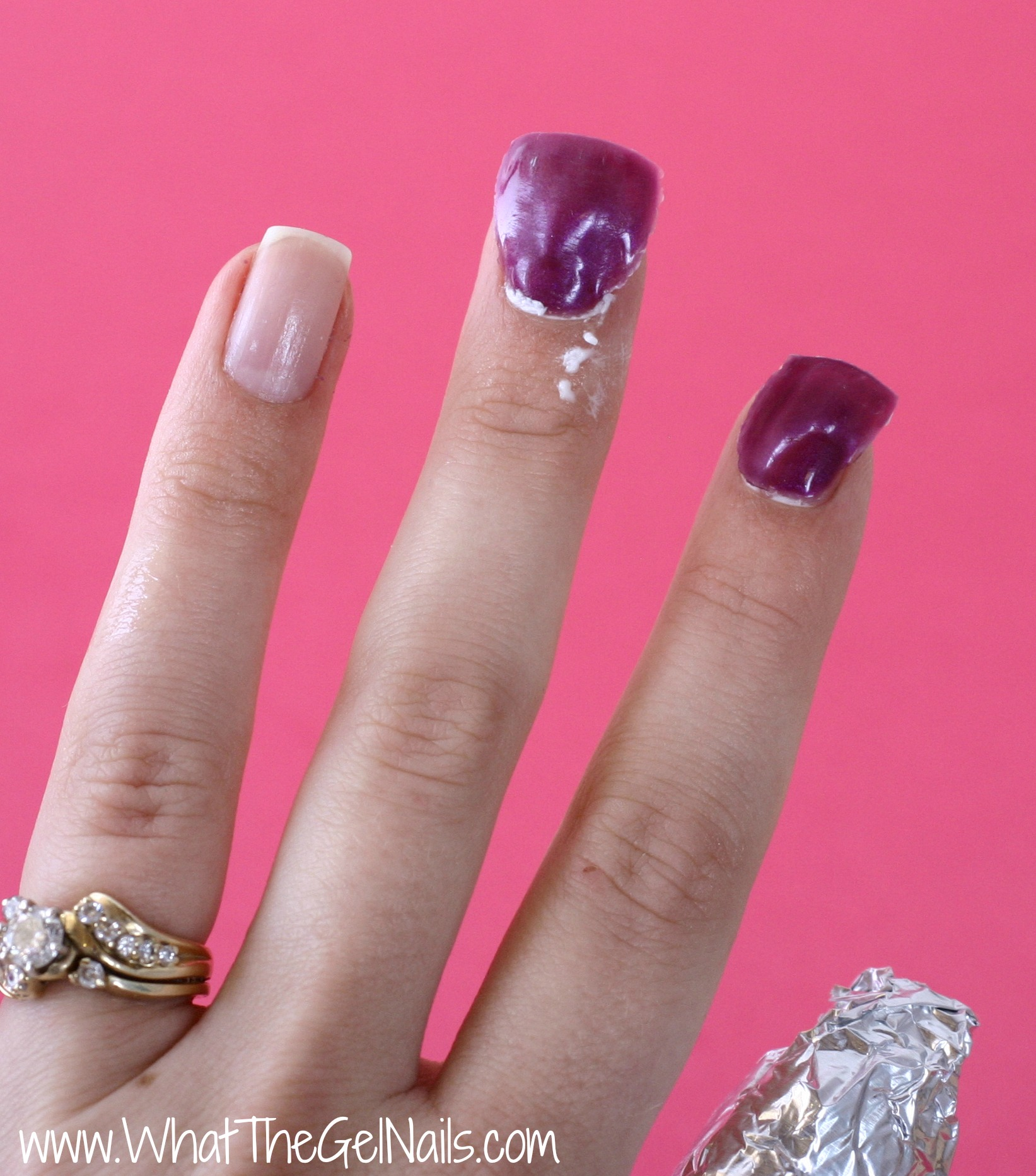 extended gel nails take off photo - 1