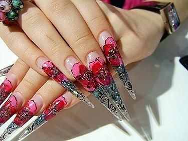 extra long stiletto nails photo - 1