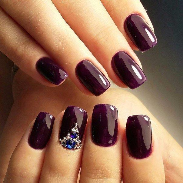 fall color acrylic nails photo - 2