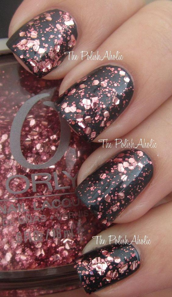 fall colors for your acrylic nails photo - 2