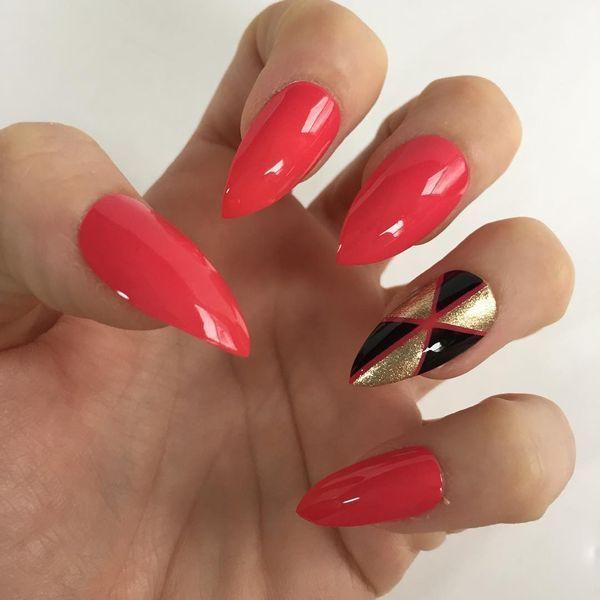 fall stiletto nails photo - 2