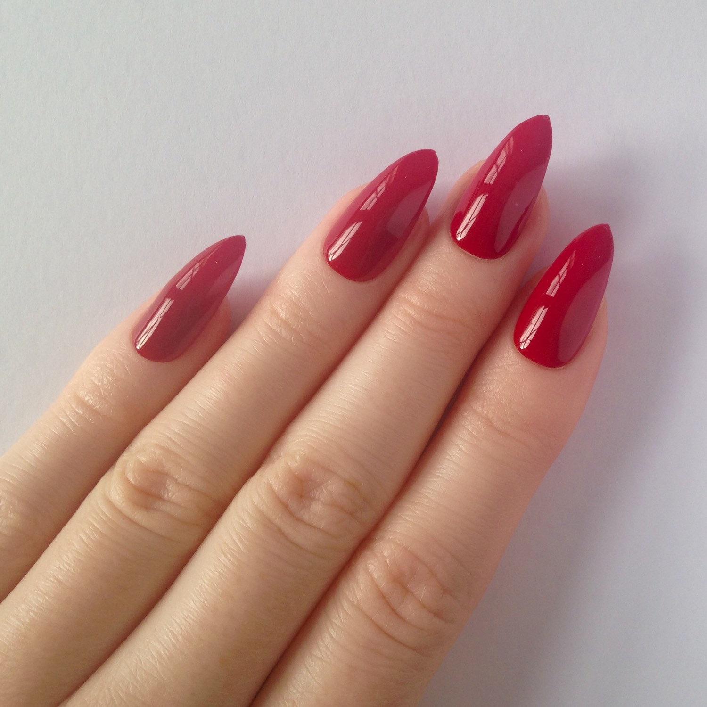 false nails stiletto photo - 2