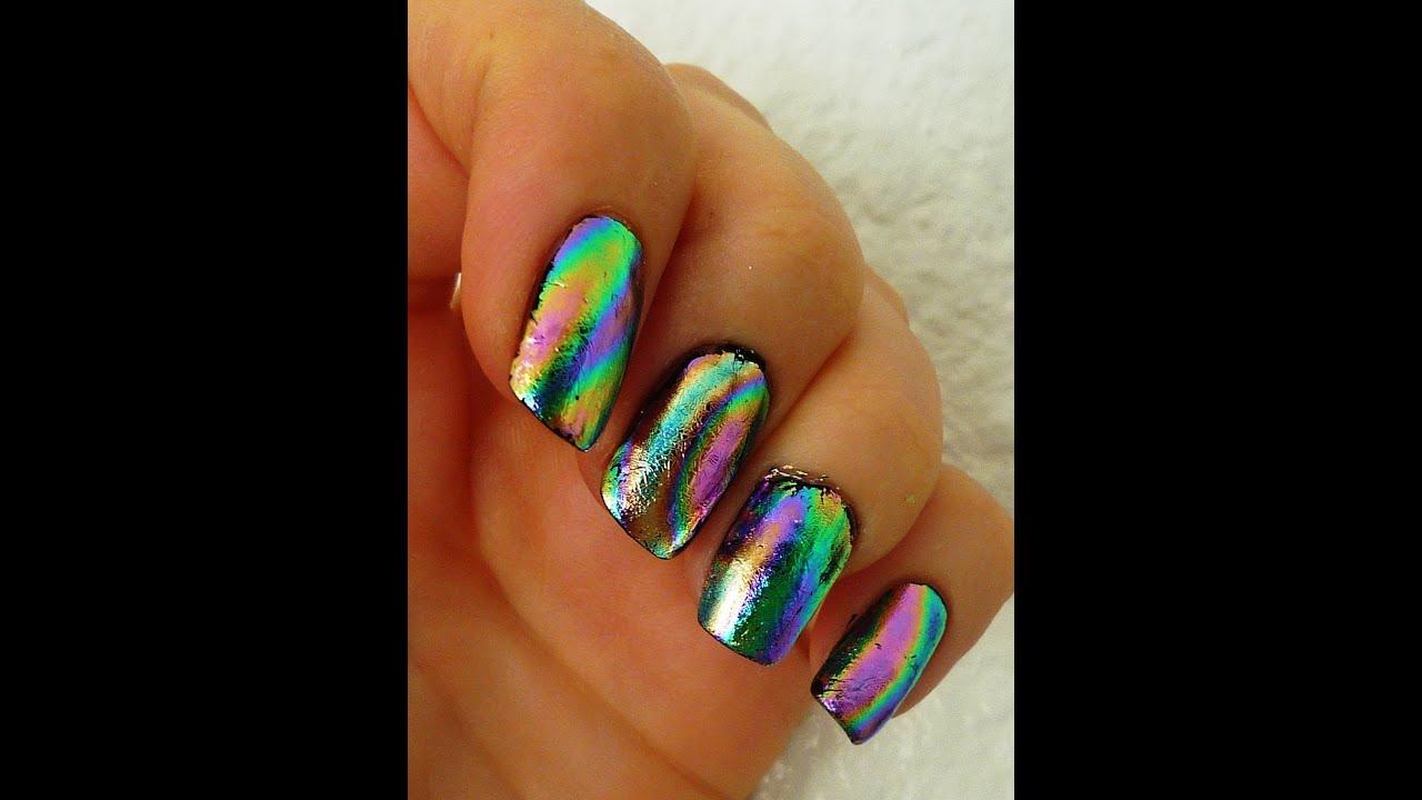 Foil gel nails - Expression Nails