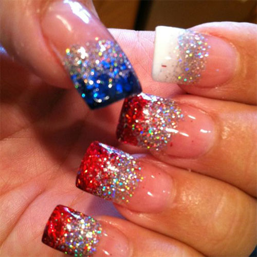 fourth of july acrylic nails photo - 2