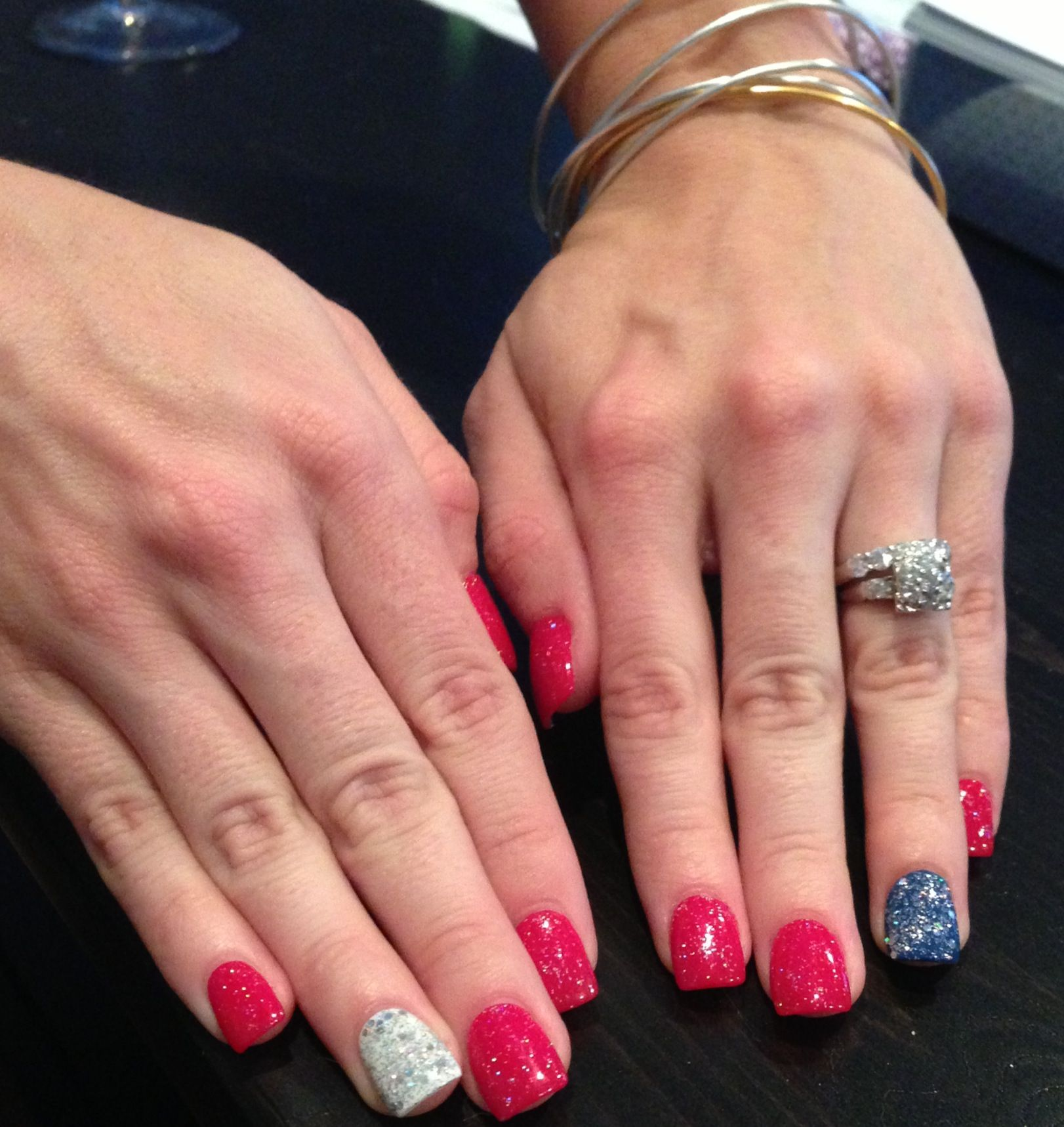 fourth of july acrylic nails coffin photo - 1