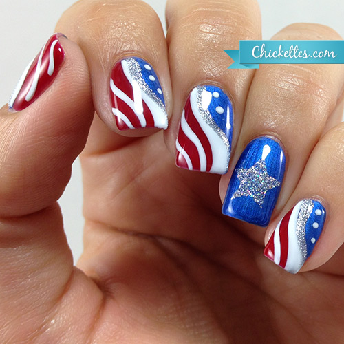 fourth of july gel nails photo - 1