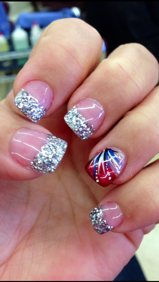 fourth of july gel nails photo - 2