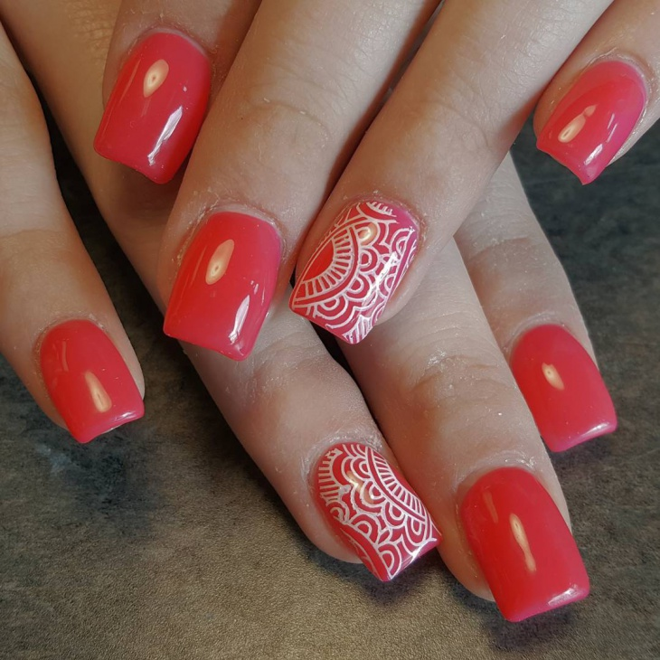 french acrylic nails square photo - 1