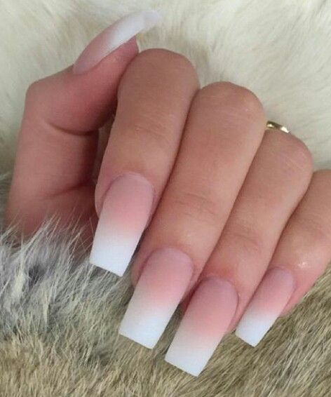 French ombre coffin nails - Expression Nails
