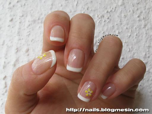 French polish gel nails - Expression Nails