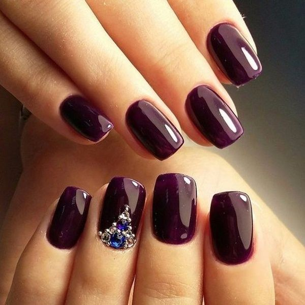 french tip acrylic nails dark skin photo - 2