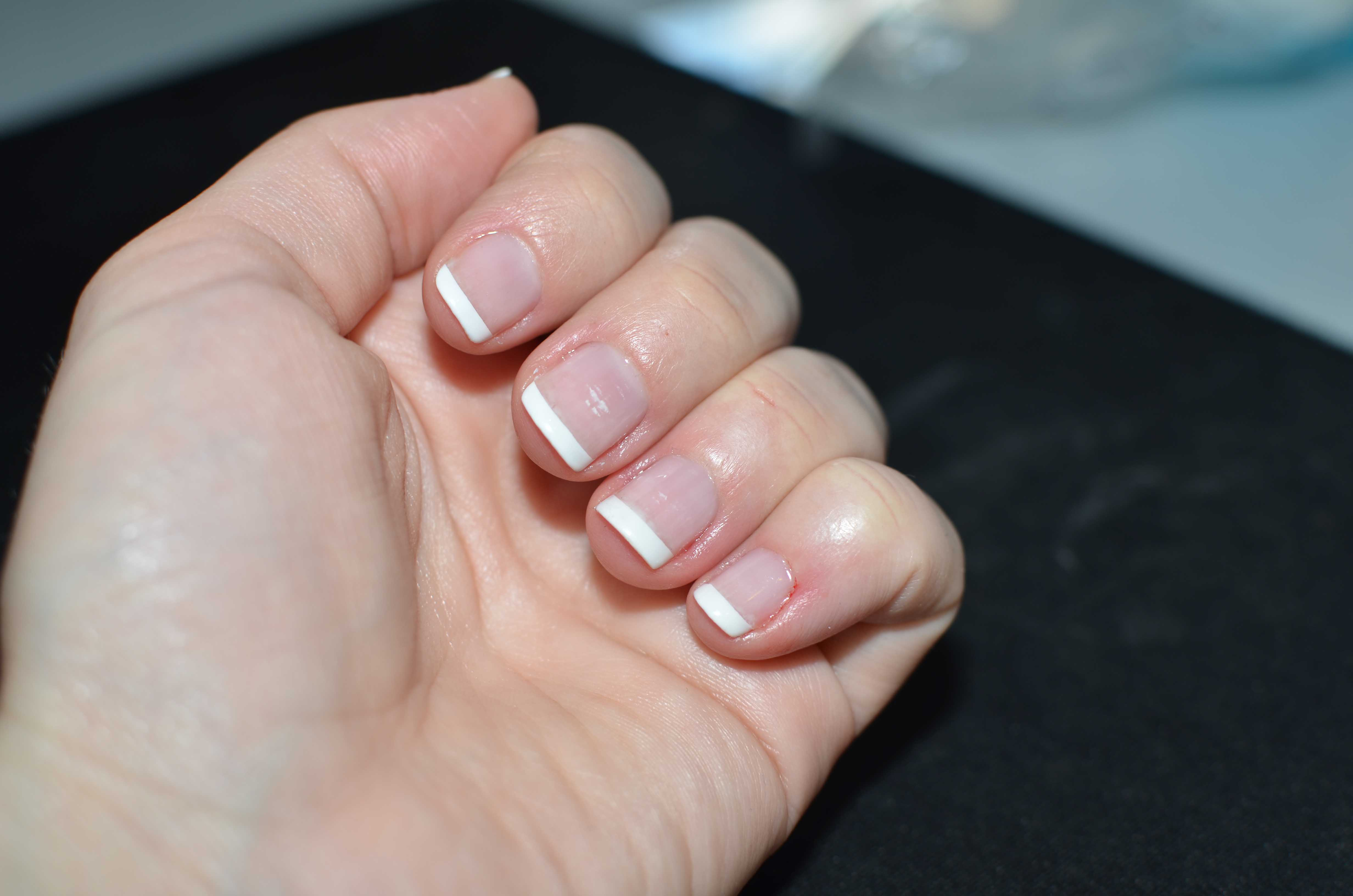 French tip gel nails - Expression Nails