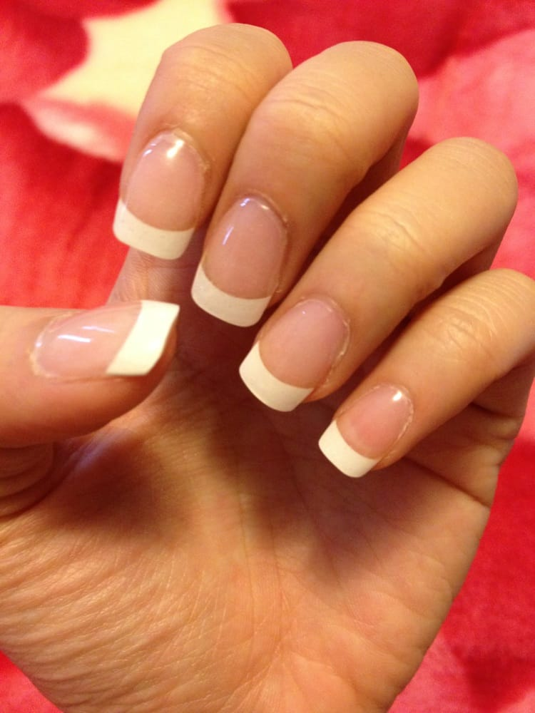 french tip nails acrylic photo - 1