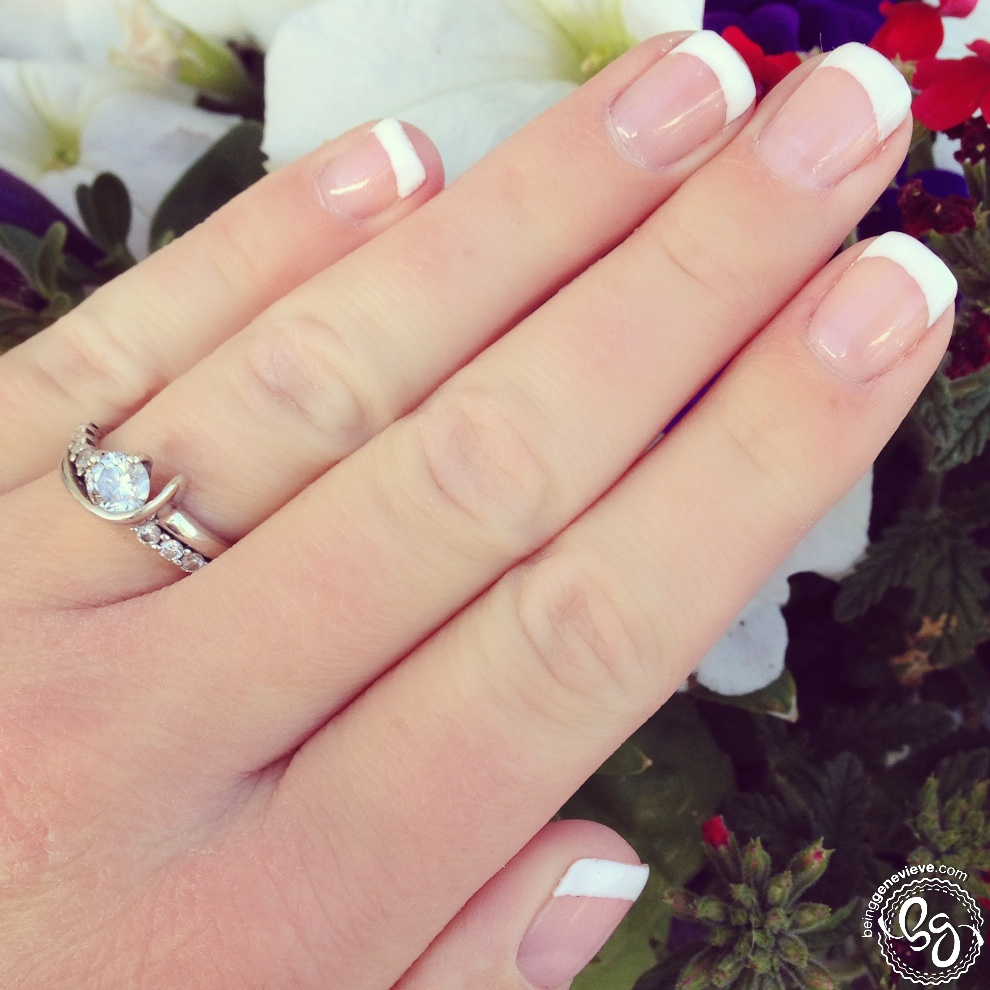 French tips gel nails - Expression Nails