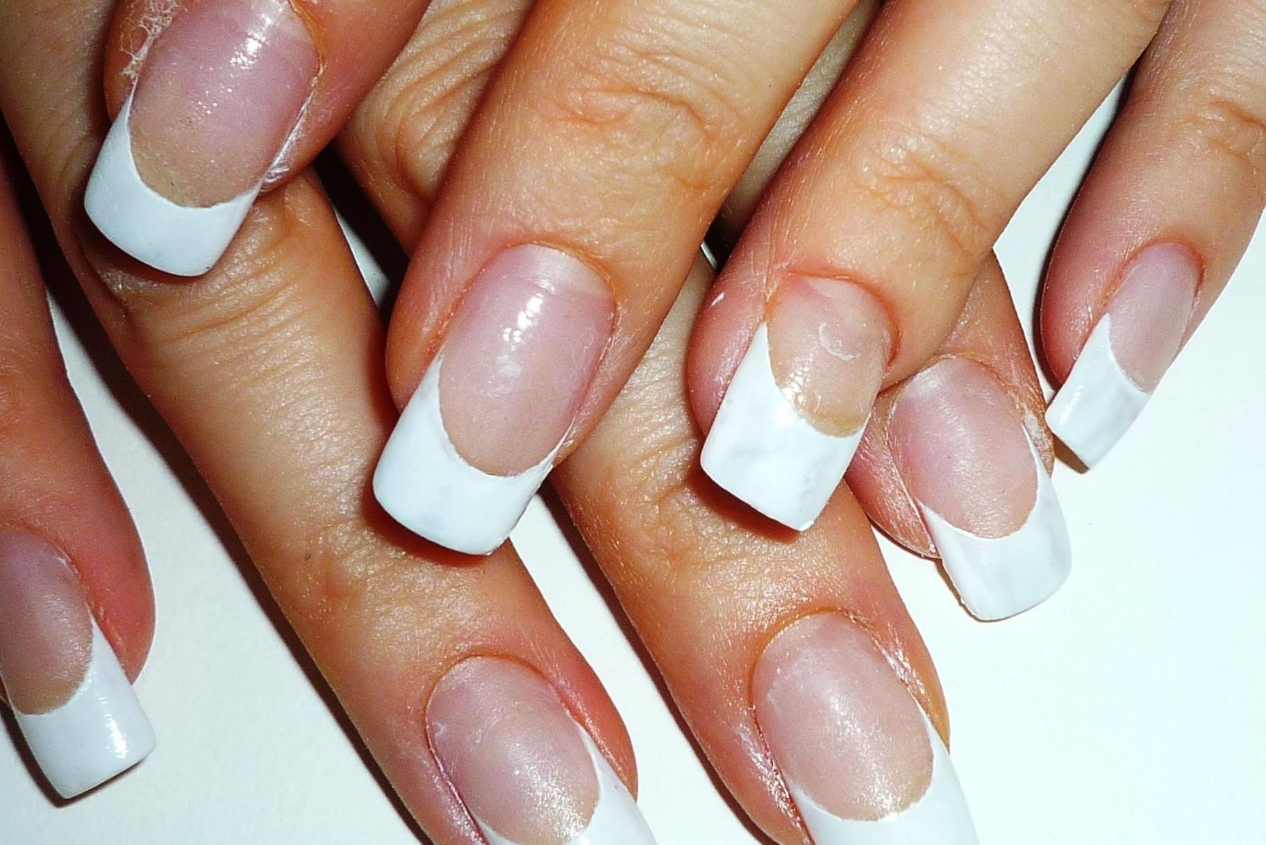 french tips nail vs gel nails photo - 2