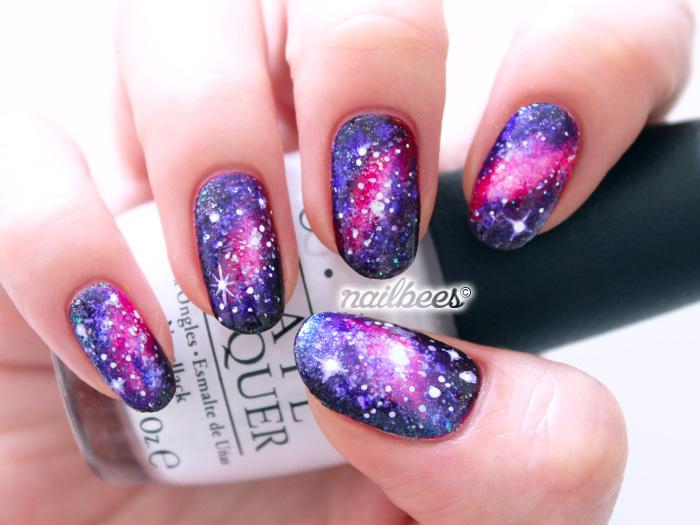 Galaxy acrylic nails - Expression Nails