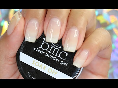 gel builder on natural nails photo - 2