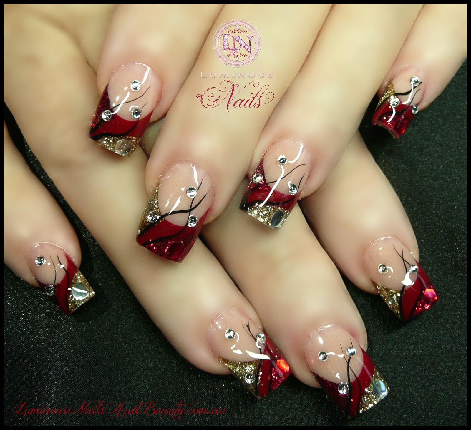 Gel christmas nails - Expression Nails