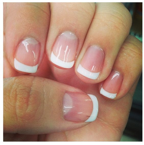 Gel French Manicure Short Nails Expression Nails