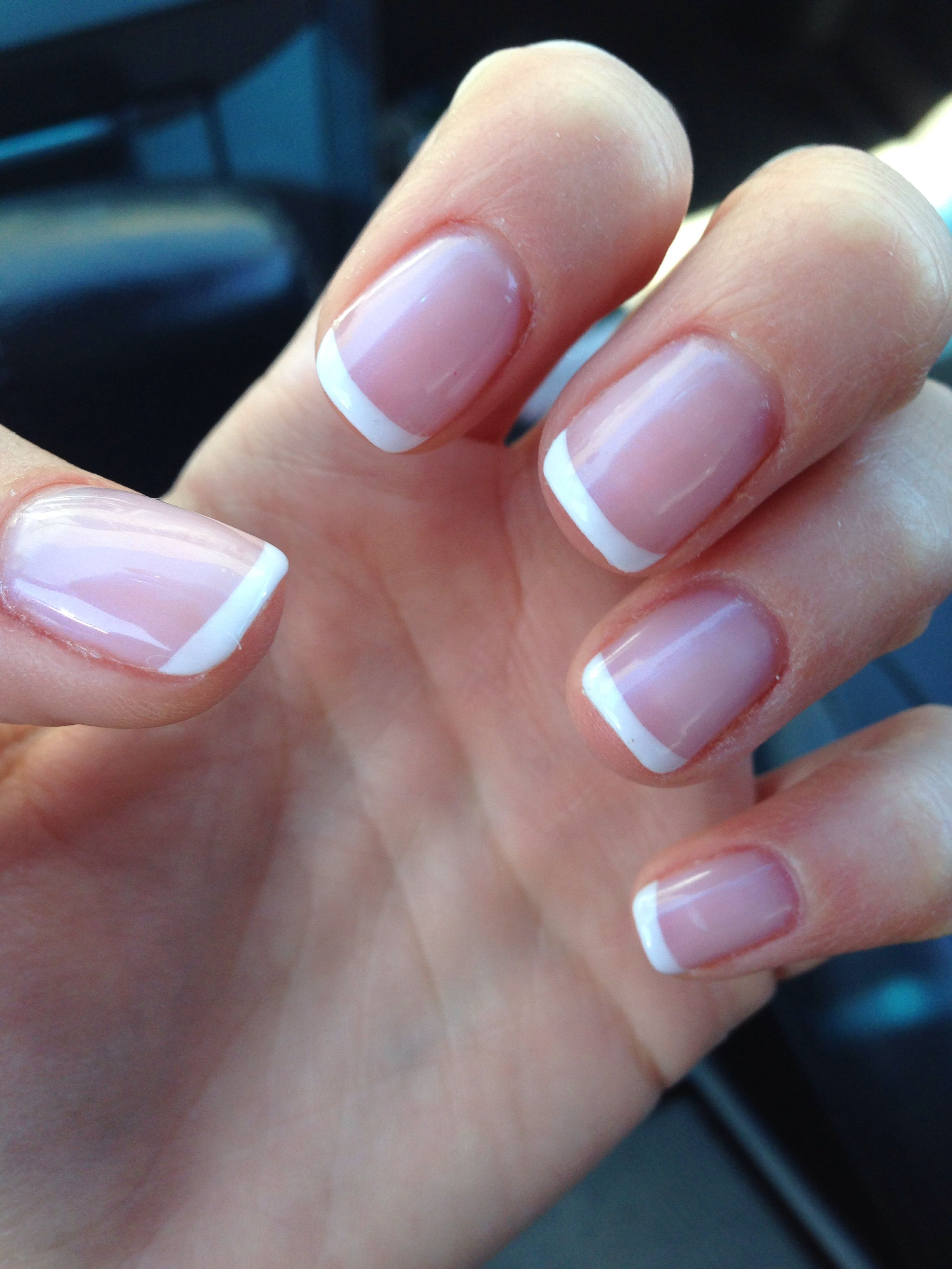 gel french manicure short nails photo - 2