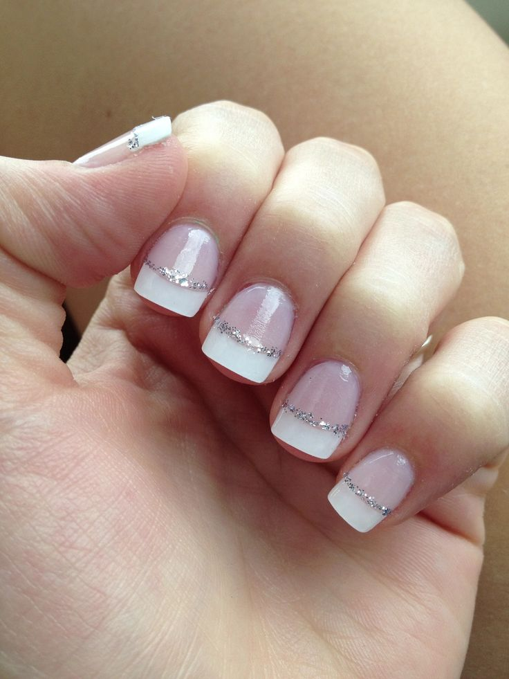 Gel french manicure short nails - Expression Nails