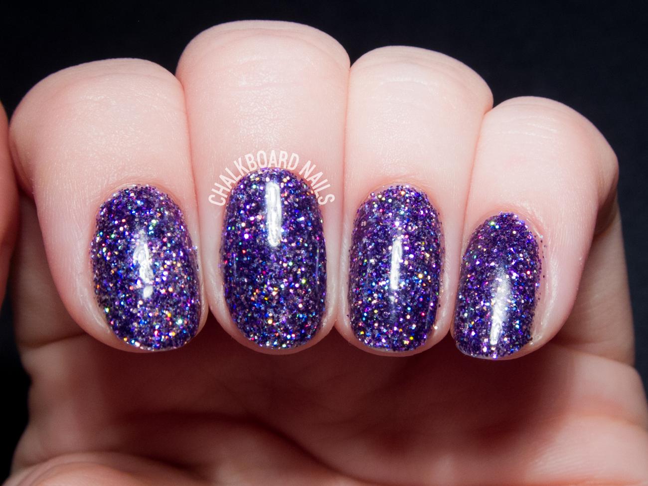 gel glitter nails photo - 2