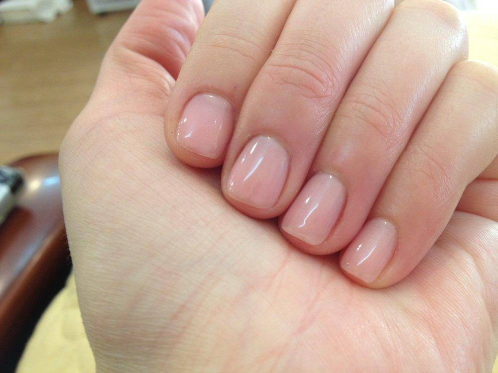 gel manicure on natural nails photo - 1