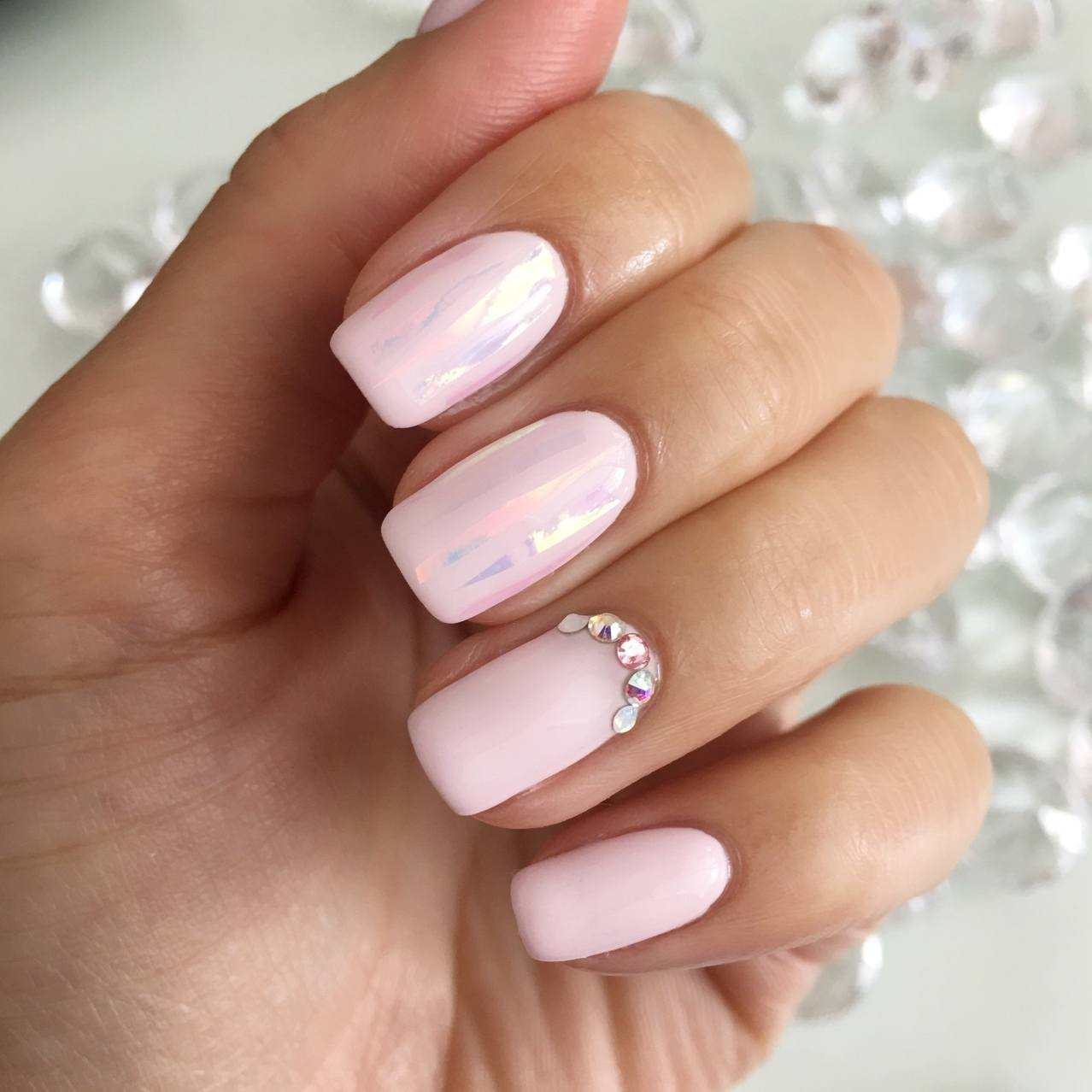 Gel nail polish on acrylic nails - Expression Nails