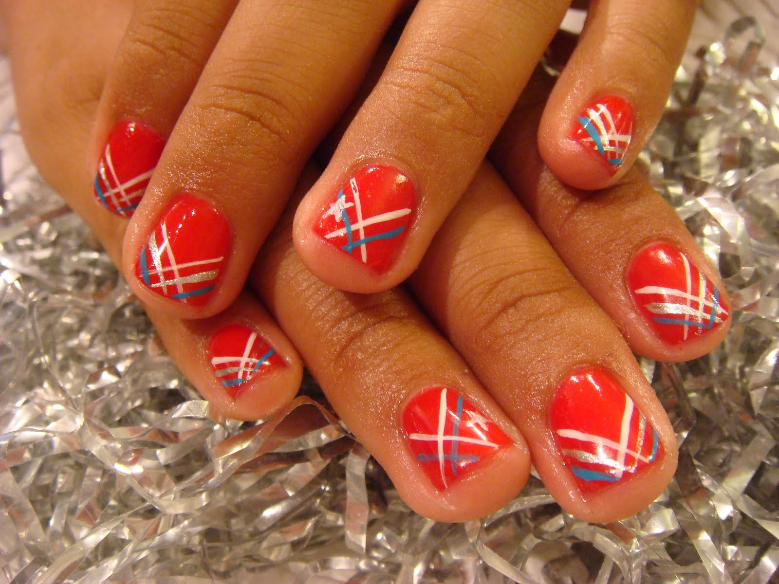 gel nails 4th of july photo - 2