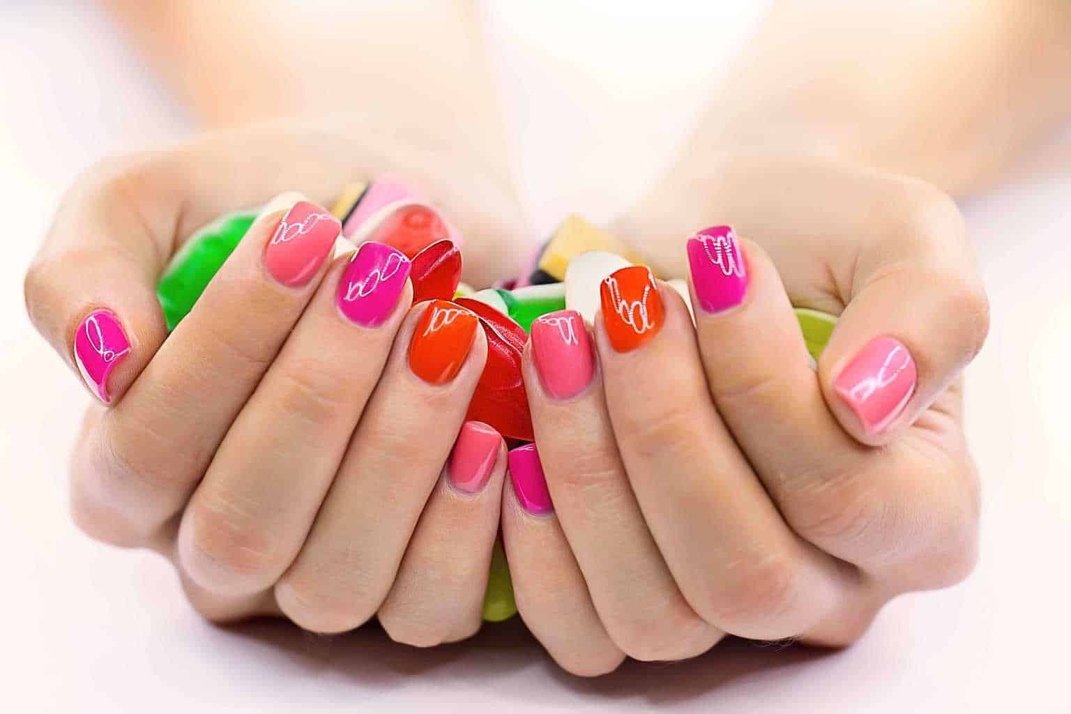 gel nails acrylic cost photo - 1