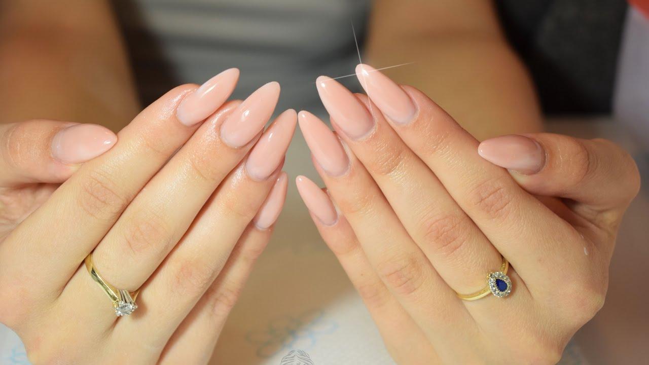 gel nails almond designs photo - 1