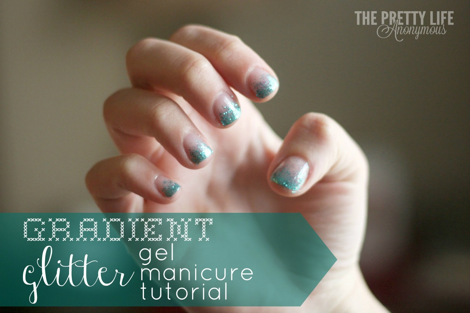 gel nails and glitter tutorial photo - 1