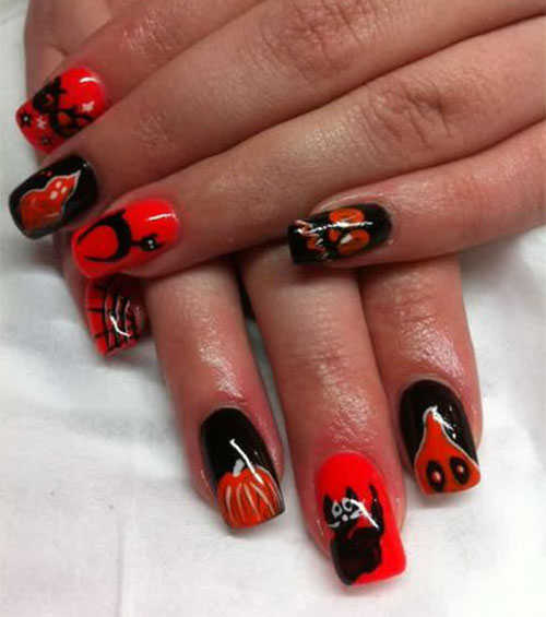 gel nails and halloween photo - 1