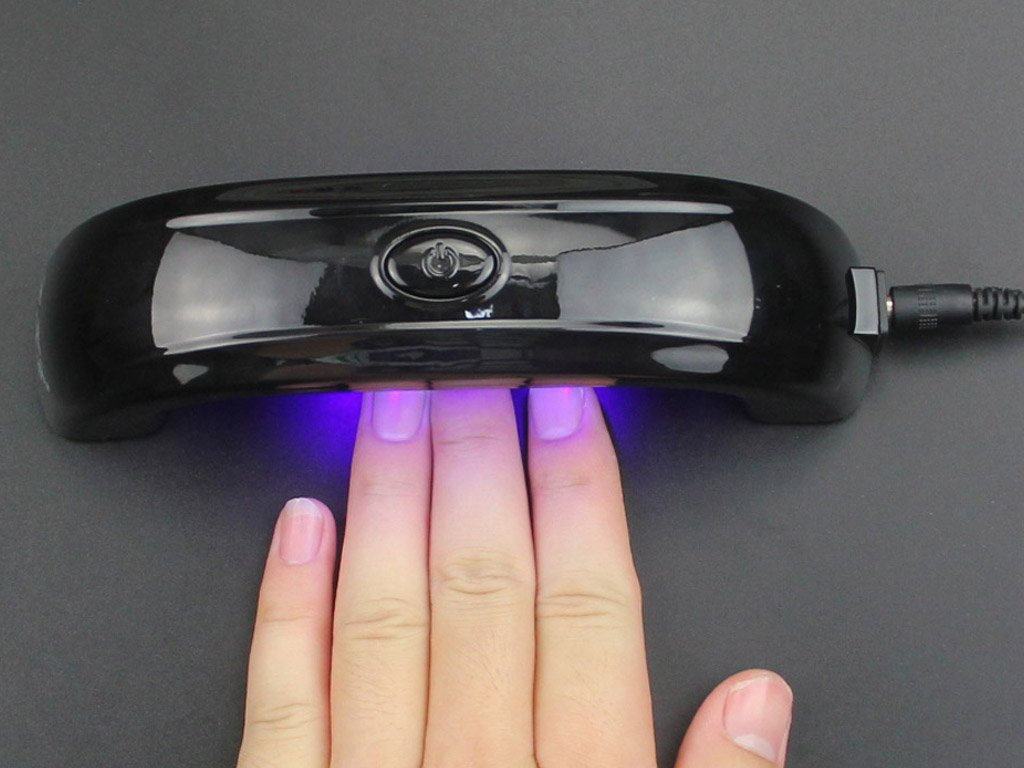 gel nails at home with uv light photo - 2