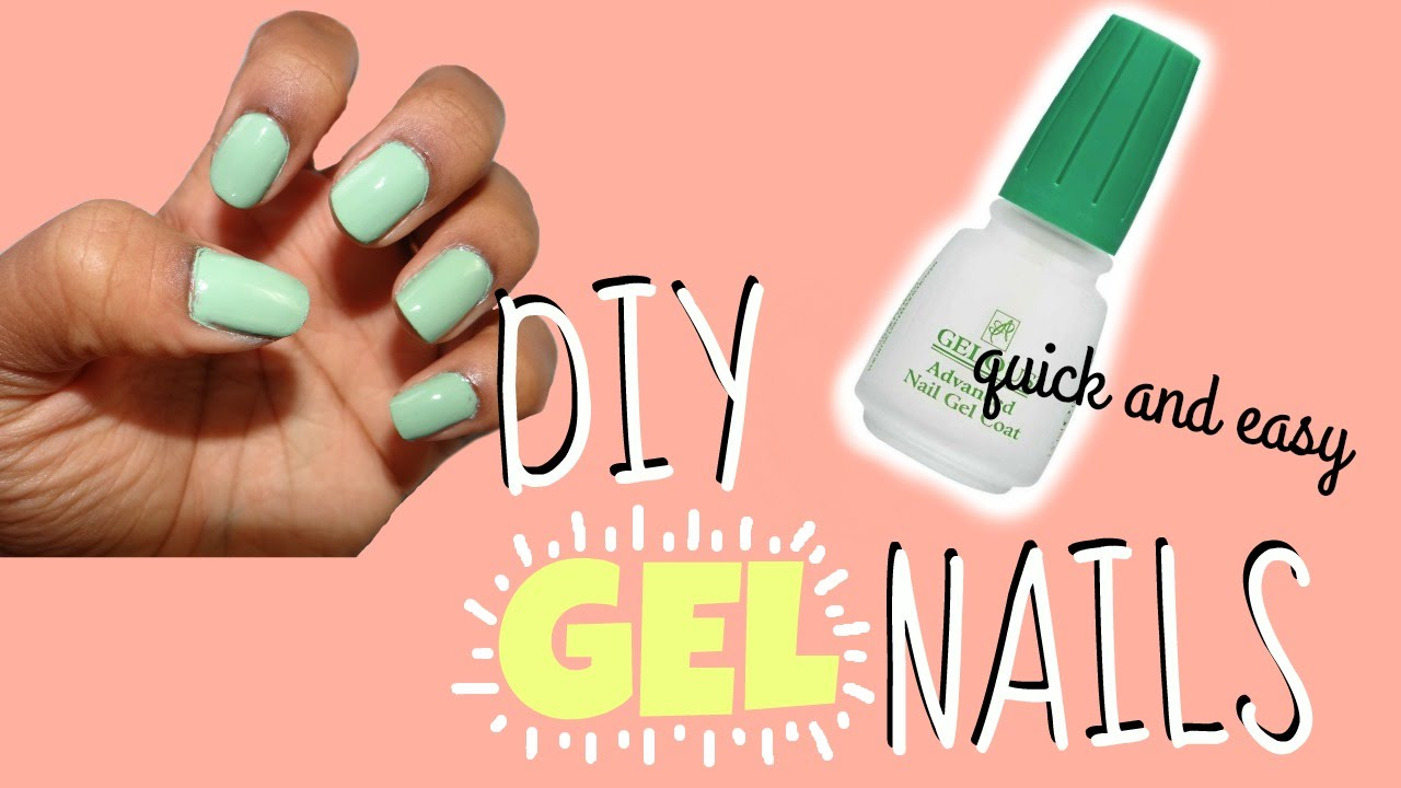 gel nails at home without uv light photo - 2