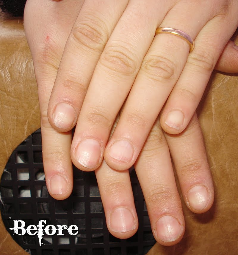 gel nails before and after photo - 2