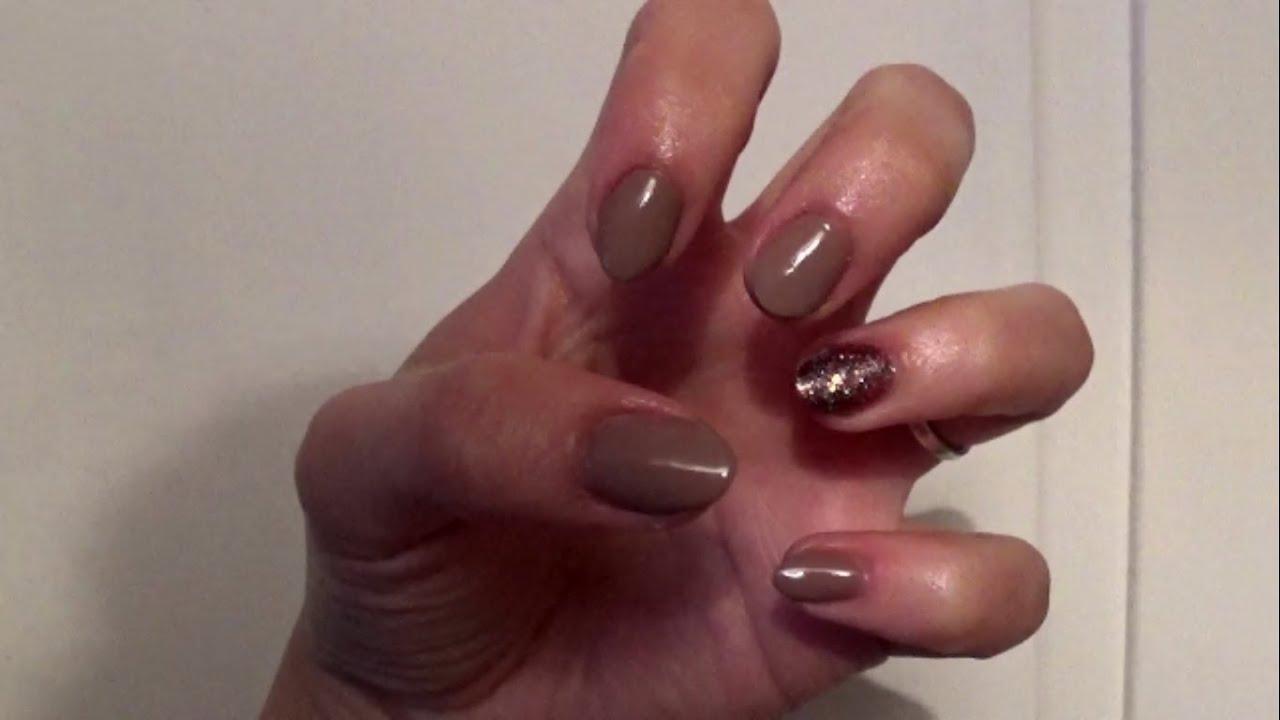 gel nails brown nude photo - 1