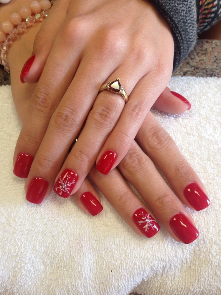 gel nails design for christmas photo - 1