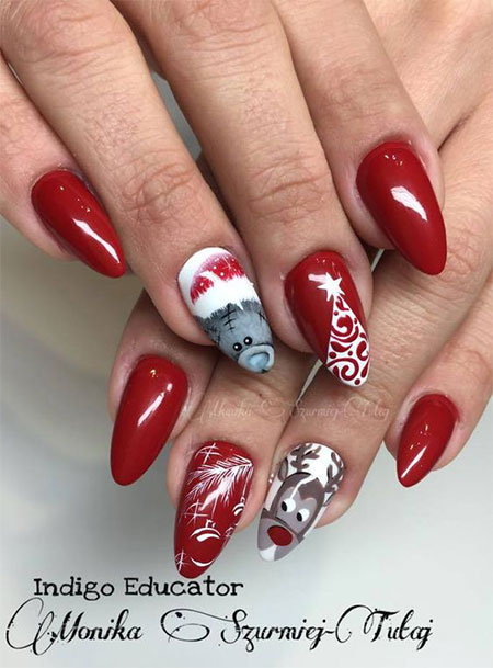 gel nails design for christmas photo - 2