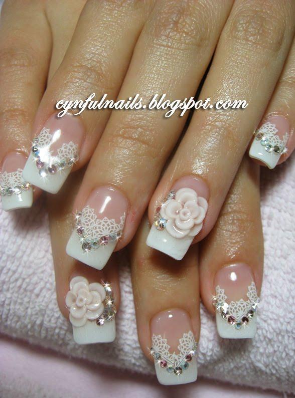 gel nails designs wedding photo - 2