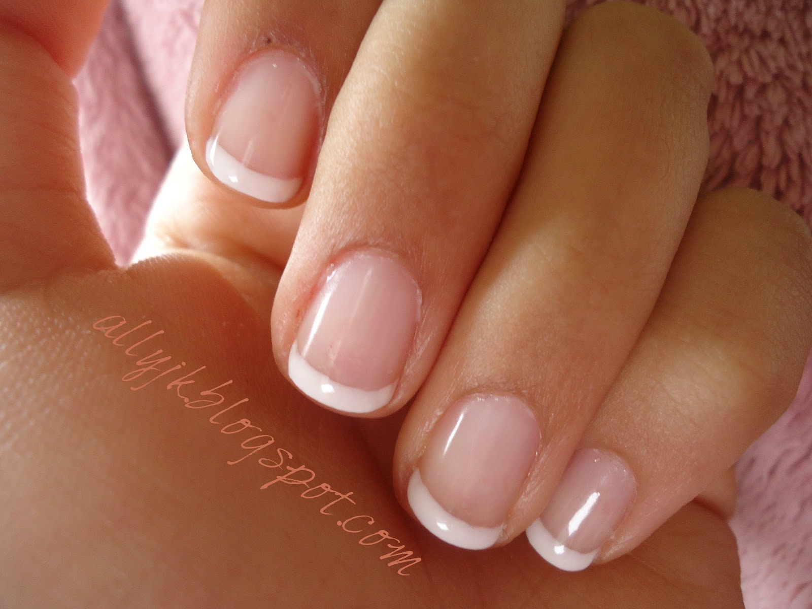 gel nails french photo - 2