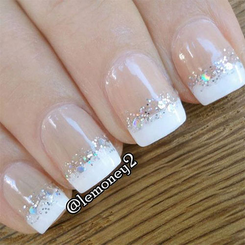gel nails french tip photo - 2