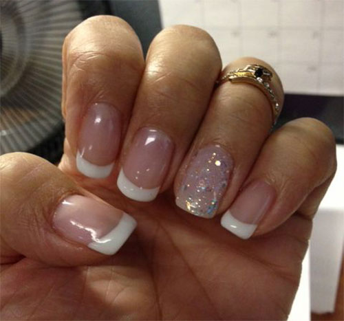 gel nails french tip designs photo - 1